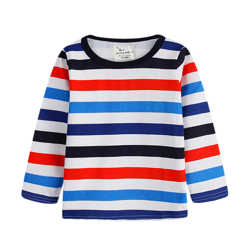 Baby Boys T shirt Children Clothing 2018 Brand Clothes Boys Long Sleeve striped Kids T-shirts for Boy t shirt jumping meters navy style boys t shirts 2016 new spring fake two pieces striped patch kids t shirt brand boy clothes casual children clothing