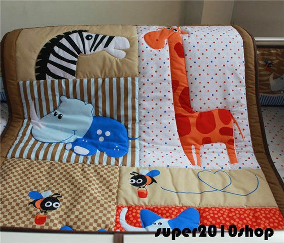 Bébé literie berceau lit bébé ensemble de couette 4 pièces couette pare-chocs feuille poussière volants cadeaux de noël