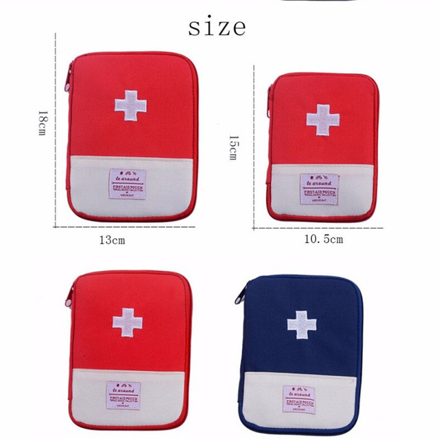 Outdoor First Aid Emergency Medical Bag Medicine Drug Pill Box Home Car Survival Kit Emerge Case Small 600D Oxford Pouch 1