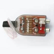 12v rca linha conversores de rádio estéreo do carro alto-falante alto a baixo amplificador subwoofer áudio do carro som automotivo subwoofer amplificador