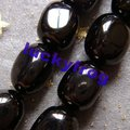 wholesale AAA 10x14mm Black Jet Lignite irregular Loose Beads