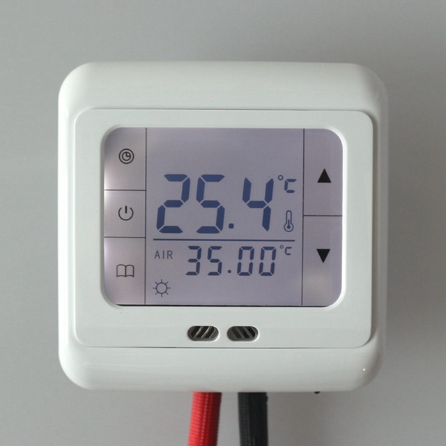 auto control digitale lcd anzeige heizung thermostat fu bodenheizung. Black Bedroom Furniture Sets. Home Design Ideas