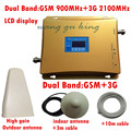 1 Conjunto de Banda Dupla GSM 900 e 3g 2100 Repetidor para Amplificador Repetidor de Sinal, 3g Amplificador de Sinal, GSM Repetidor 3g Impulsionador 2100 mhz