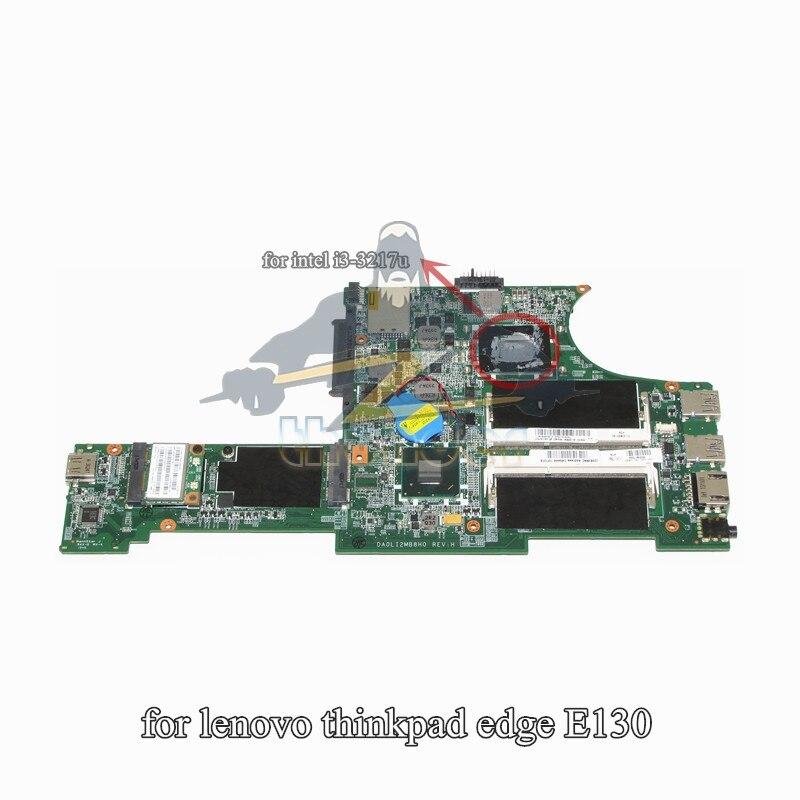04Y1000 DA0LI2MB8H0 for lenovo thinkpad edge E130 laptop motherboard i3-3217U HM77 GMA HD4000 DDR3 цена