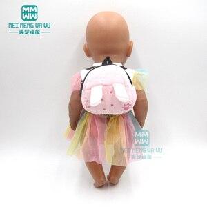 Image 3 - ملابس لل دمية صالح 43 سنتيمتر المولود الجديد دمية الكرتون أفخم ظهره