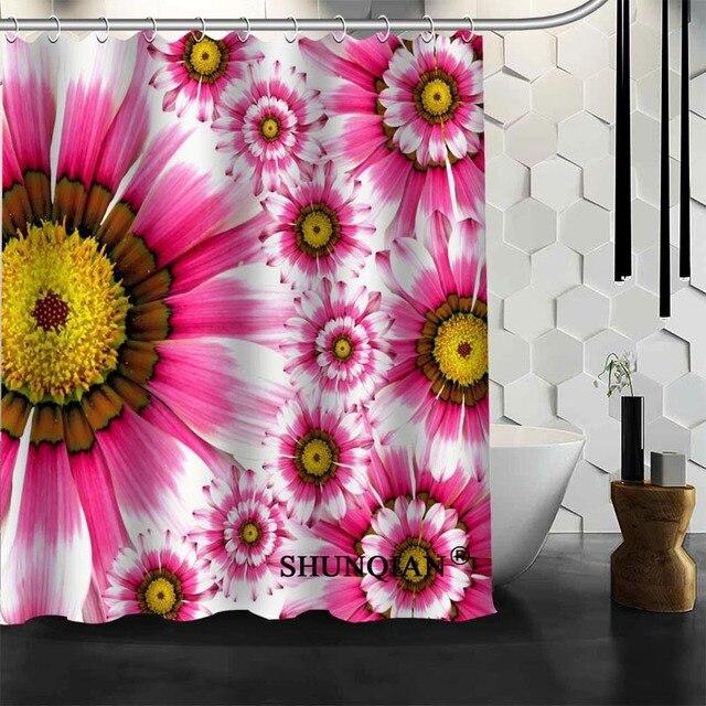 pink flower Shower Curtain High Quality Bath screens Modern ...