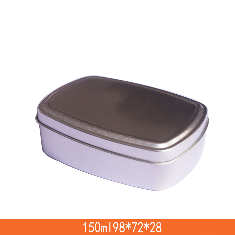 150ML Square Cosmetic Cream Container Empty Aluminum Container Handmade Soap Metal Packing Pot Tin Cans Pomade Refillable Box