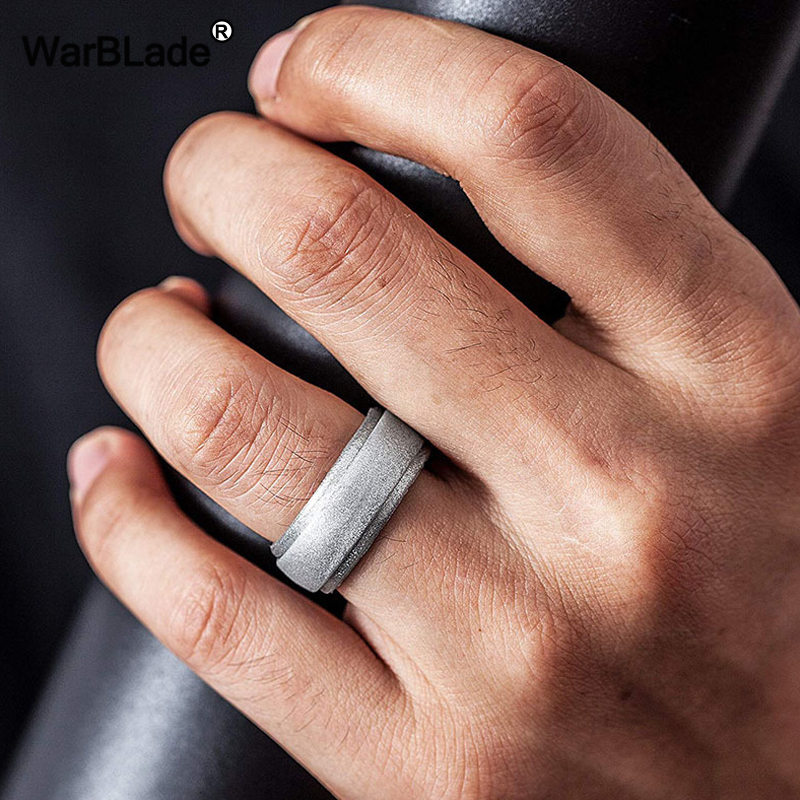 WarBLade New Food Grade FDA Silicone Rings Men Wedding Rubber Bands Hypoallergenic Flexible Antibacterial Silicone Finger Ring 2