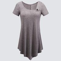 Casual Summer Short Sleeve Loose Bottom T Shirt Women Basic Style Tee Tops HT010