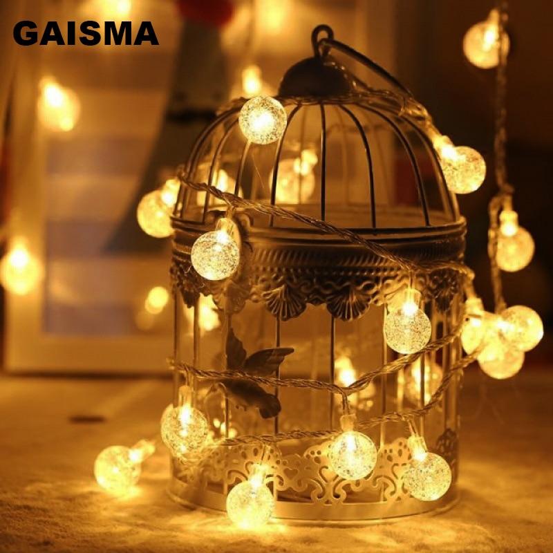 5 m 10 20 m 30 m 50 m 100 m luzes de fadas led string luzes decoração guirlanda de natal para festa de casamento iluminação do feriado corrente