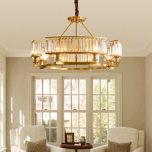 copper chandelier American living room crystal restaurant  after modern luxury