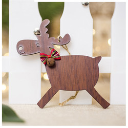 Christmas Deer Wooden Pendants Ornaments for Xmas Tree DIY Ornament Christmas Party Decorations Kids Gift hanging drop ornaments 4