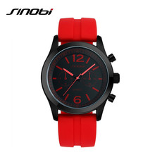 SINOBI Luxury Brand Women Watch Silicone Quartz Casual Watch Women's Fashion Wristwatch relogio feminino Gift relogio E98