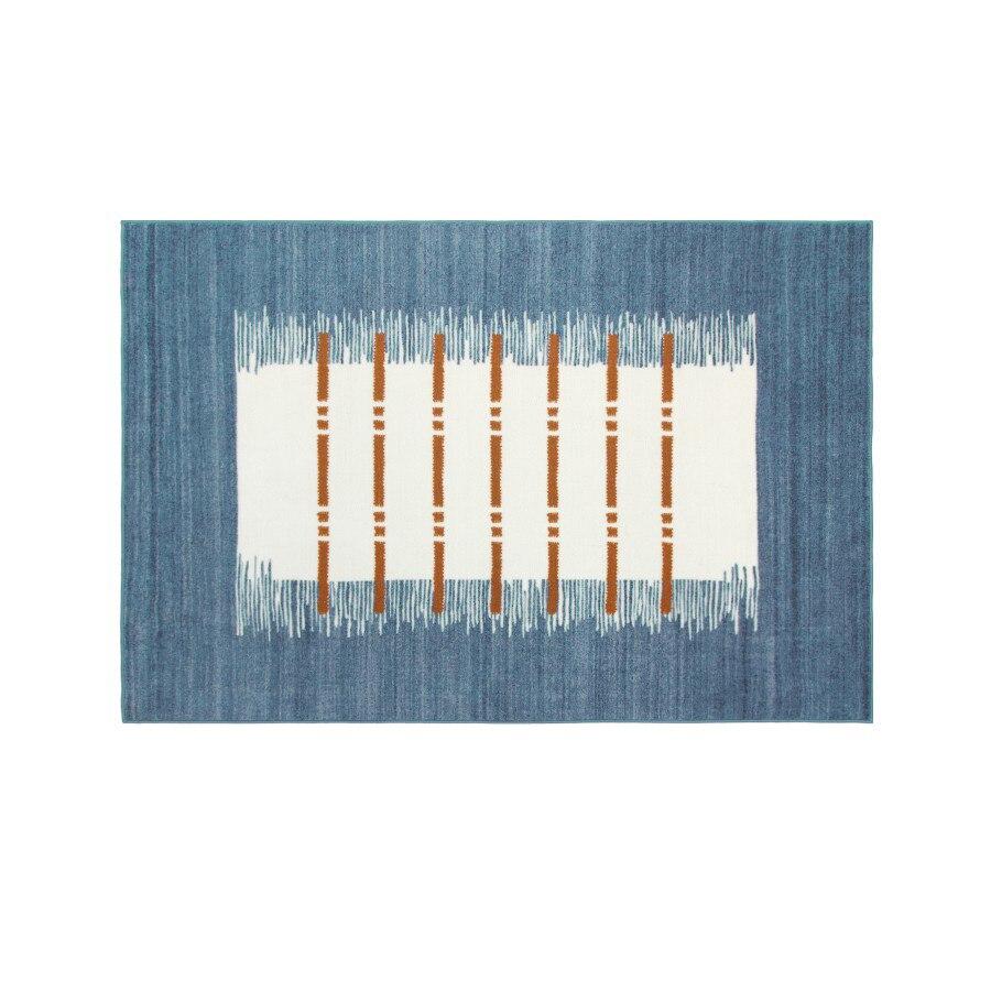 Nordic style Living room Hallway Carpet geometric Indian Rug plaid striped Modern Parlor contemporary design Kilim blue Bohemia