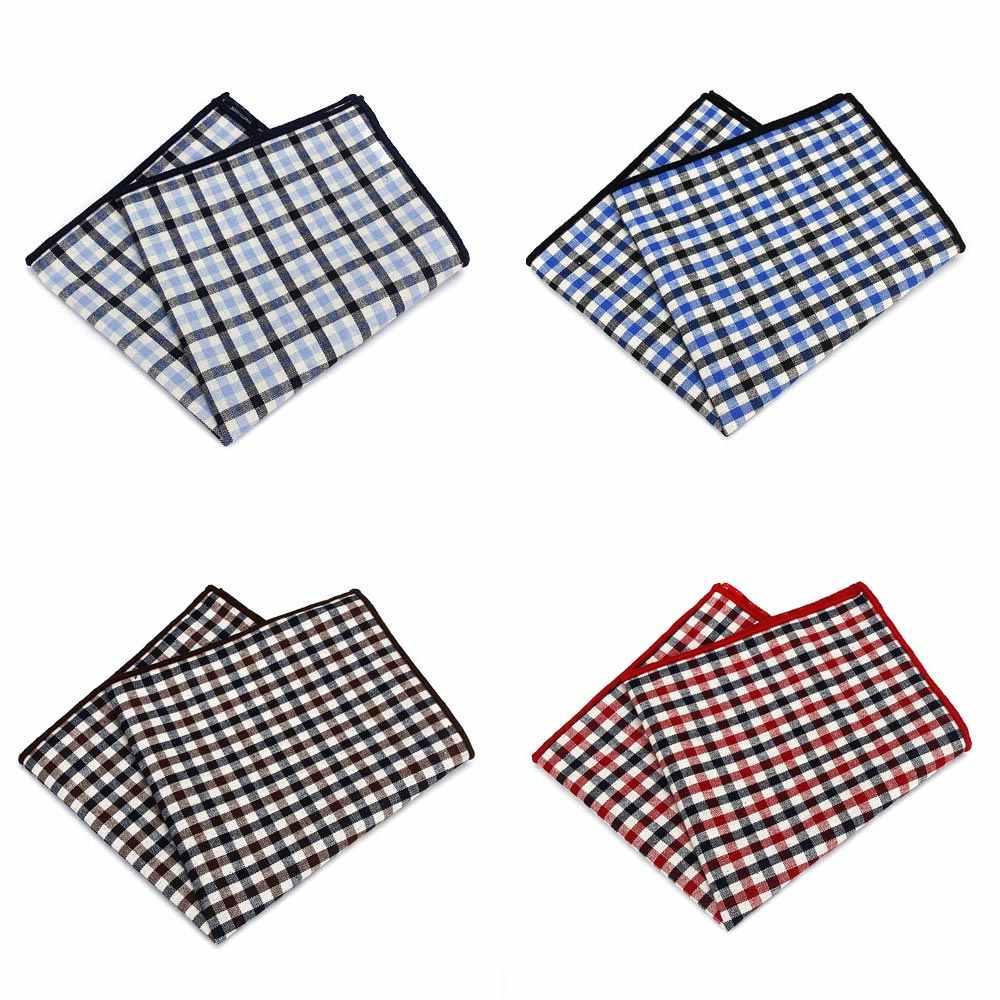 MF2497 продажи Винтаж Для мужчин хлопок платок окантовкой пледы полосой печати одной стороны платок для Ascot Галстуки Галстук Свадебная вечеринка