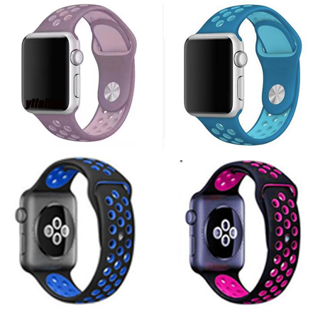 Silicone straps For Apple Watch sport Band Soft Rubber for iwatch Wrist Band Strap Bracelet series 4/3/2/1 38mm/40mm/42mm/44mm 20 colors sport band for apple watch band 44mm 40mm 38mm 42mm replacement watch strap for iwatch bands series 4 3 2 1
