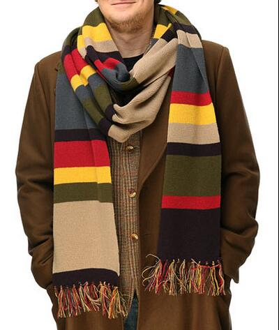 Dcotor Who the fourth generation of the fall and winter scarves men and ladies wild striped shawl Scarf