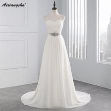 2017 Hot Selling A Line chiffon Wedding Dresses Beading Vestido font b de b font Noiva
