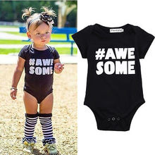 Infant Baby Boy Clothes Girl Outfit Cotton Short Sleeve Letter Bodysuit Playsuit Jumpsuit Babygrows One-piece