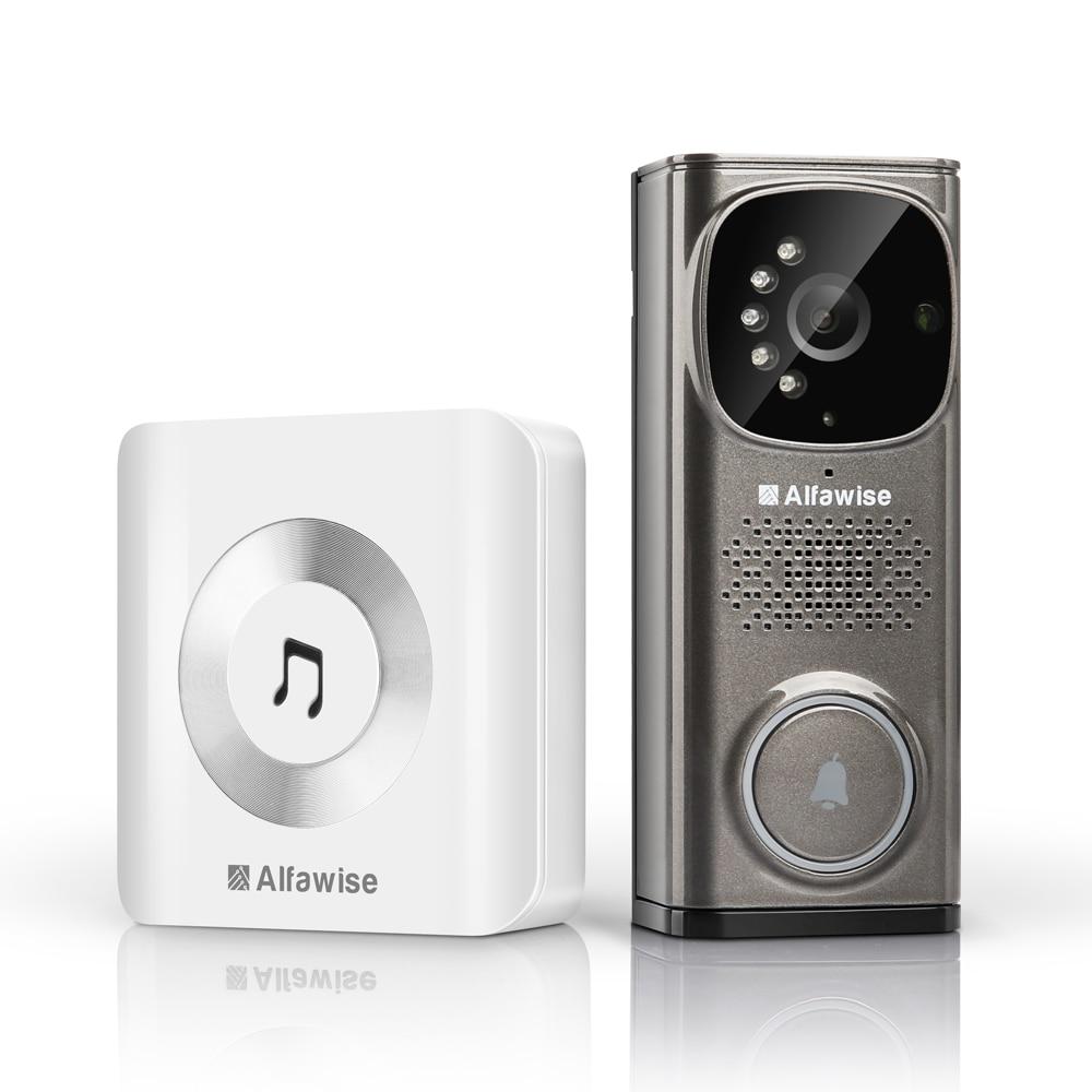 Alfawise Smart Video Doorbell Intercom Video Door Phone Door Bell EU Plug Intelligent Doorbell for Intercom