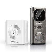 Alfawise Smart Video Doorbell Intercom Video Door Phone Door Bell EU Plug Intelligent Doorbell for Intercom, HD 720p With Night