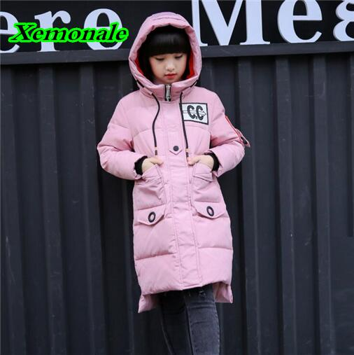 High Quality 2017 Winter Baby Girls Down Coats New Style Children Outerwear Windproof Jackets Kids Warm Thick Down Parkas high quality children winter outerwear 2017 baby girls down coats jacket long style warm thickening kids outdoor snow proof coat