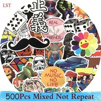 500 Pcs Waterpoof Sticker For Laptop Skateboard Luggage Creative Funny Decals Fridge Phone Car Styling Home