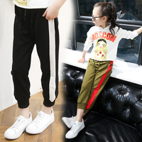 Kids Girls Trousers Sports Pants 2017 Spring Autumn Girls Leggings Cotton Pants For Girl Casual Pants