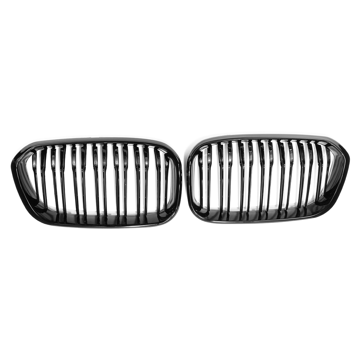 New Pair ABS Gloss Black Front Bumper Kidney Grill Grille Car Decorative Accessory For BMW F20 F21 1 Series 2015 2016 f20 abs grill front bumper hood grille for bmw f21 2010 2014 page 8