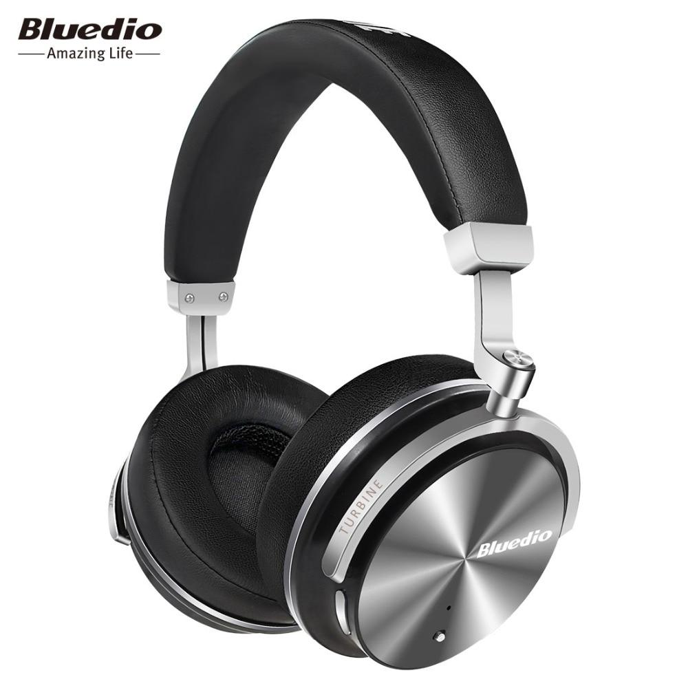 Bluedio T4S Attiva del Rumore di trasporto Che Annulla Le Cuffie ANC Edition Auricolare Senza Fili di Bluetooth 3D Suono Intorno All'orecchio Per Android IOS
