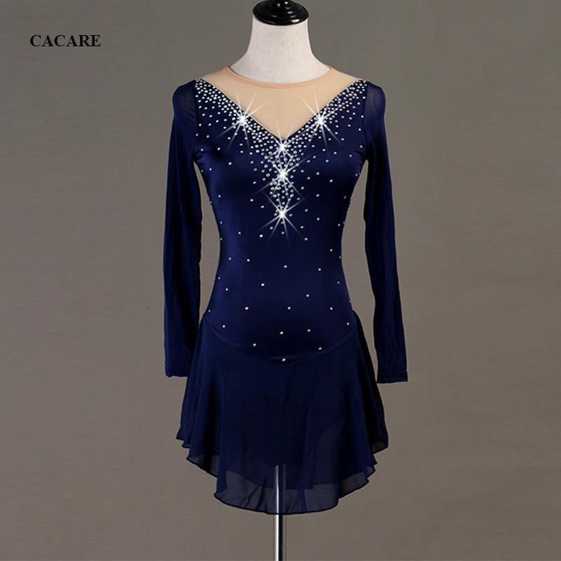 Robe de patinage artistique robe de danse latine femmes personnaliser Latina Salsa robes de danse Standard justaucorps de danse D0598 strass