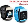 Nuevo llega con pantalla táctil ultrafina Bluetooth elegante reloj reproductor de mp3 del deporte sin pérdidas mp3 players 8 GB capacidad de memoria