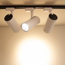 COB LED10W 20W 30W COB LED Track Lighting LED Rail Lamps AC85-265V LED Spotlight for Clothes Stores Shop Mall Exhibition Office