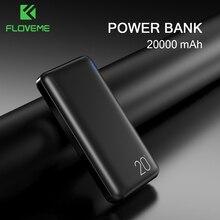 FLOVEME כוח בנק 20000mAh עבור iPhone נייד מטען כפול USB פלט Powerbank 10000mAh Bateria פנימית וחיצוני Movil Poverbank