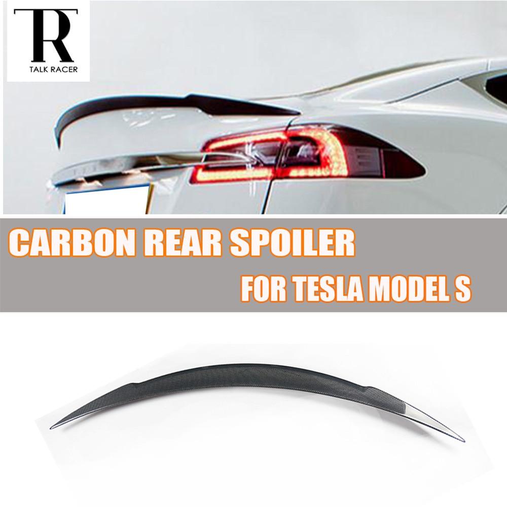 все цены на Carbon Fiber Rear Wing Spoiler for Tesla Model S Sendan 4 Door 2014 2015 2016 онлайн