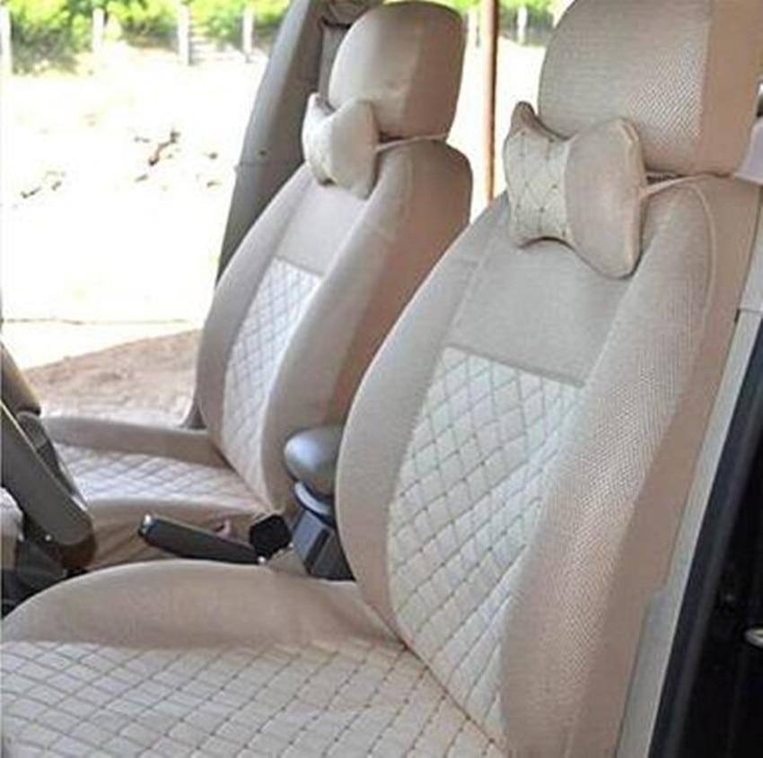 2018 cas de voiture de siège de siège en soie d'émulation pour Honda universel avant arrière dossier arrière professionnel housses de siège personnalisées