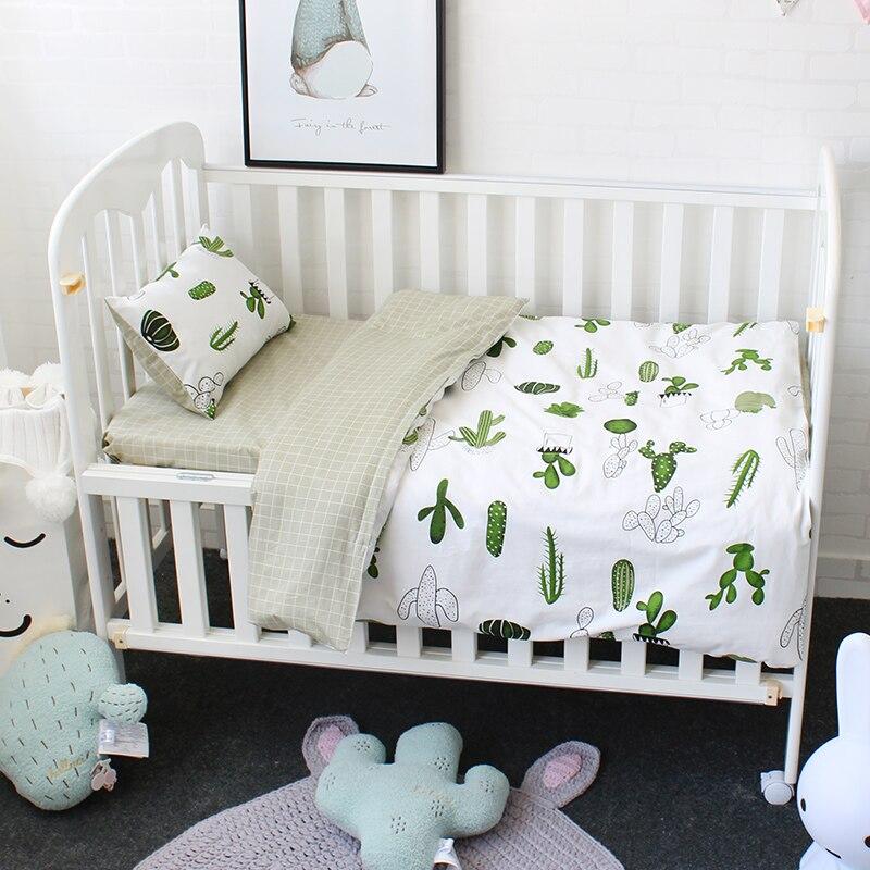 Baby Bedding Set Pure Cotton Cirb Kit Bed Linen For Children Incluiding Quilt Pillow Flat Sheet Pillowcase Duvet Cover