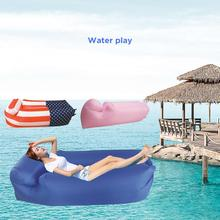 Inflatable Sun Lounger Air Sofa Waterproof Portable Hammock With Leakage Design Ideal For Beach Patio By The Lake