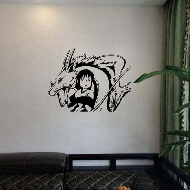 Free Shipping Japanese Anime Style Wall Stickers, Spirited Away Inspired  Chihiro U0026 Kohaku Vinyl Wall