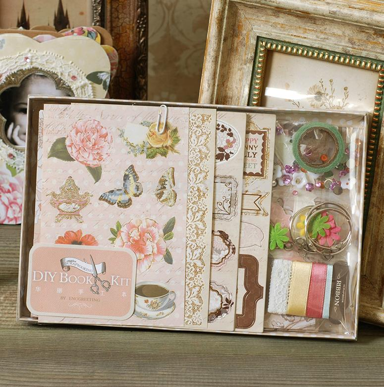 scrapbooking photo album scrapbook diy book kit home decoration elegant wedding album children 39 s. Black Bedroom Furniture Sets. Home Design Ideas