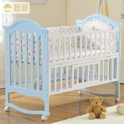 Baby baby crib wood multi-function baby cradle crib bed table neonatal bed game bed