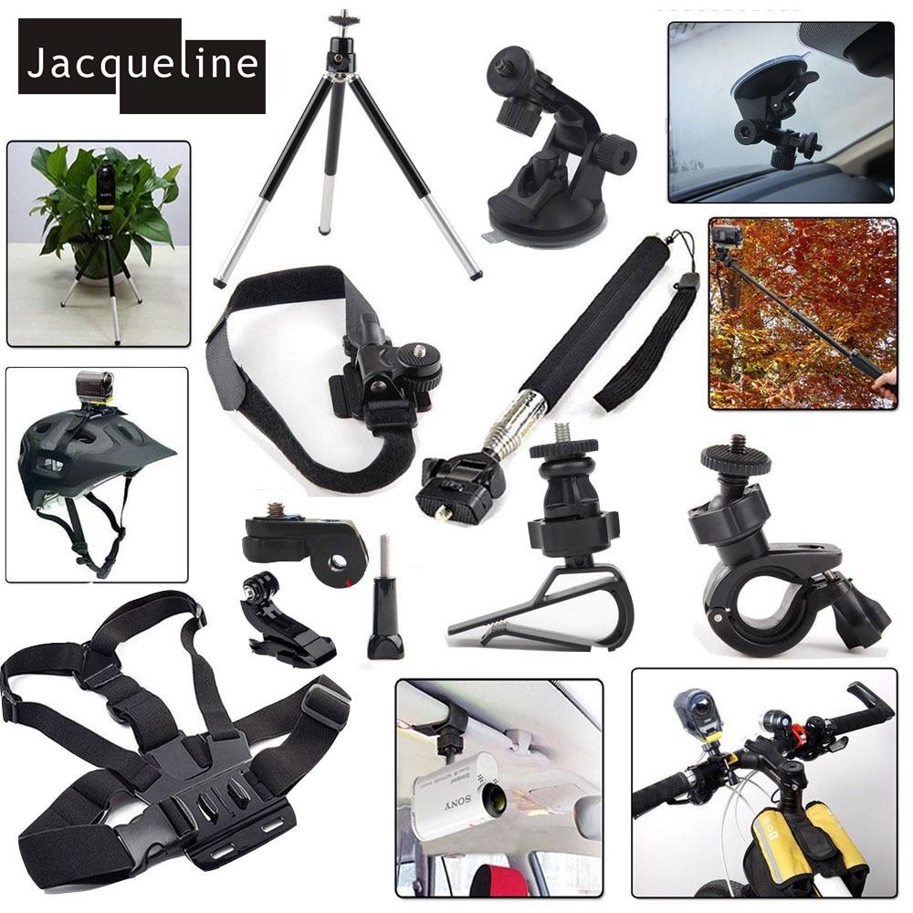 Jacqueline de Kit de accesorios conjunto de montaje para Sony Action Cam HDR AS15 AS20 AS200V AS30V AS100V AZ1 mini FDR-X1000V/W 4 K