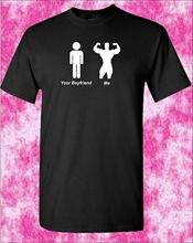 MENS T SHIRT YOUR BOYFRIEND ME shirt Bodybuilding Muscle Funny New Shirts Tops Tee Unisex