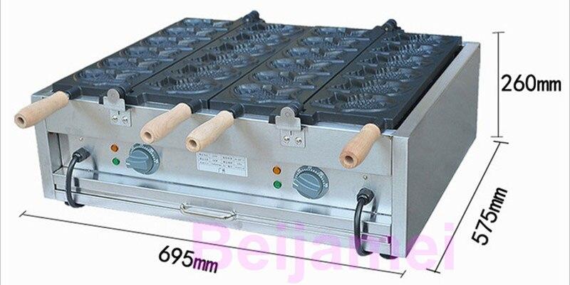 BEIJAMEI automatic Taiyaki machine in Thailand/fish shape waffle making machine commercial fish waffle maker taiyaki machine