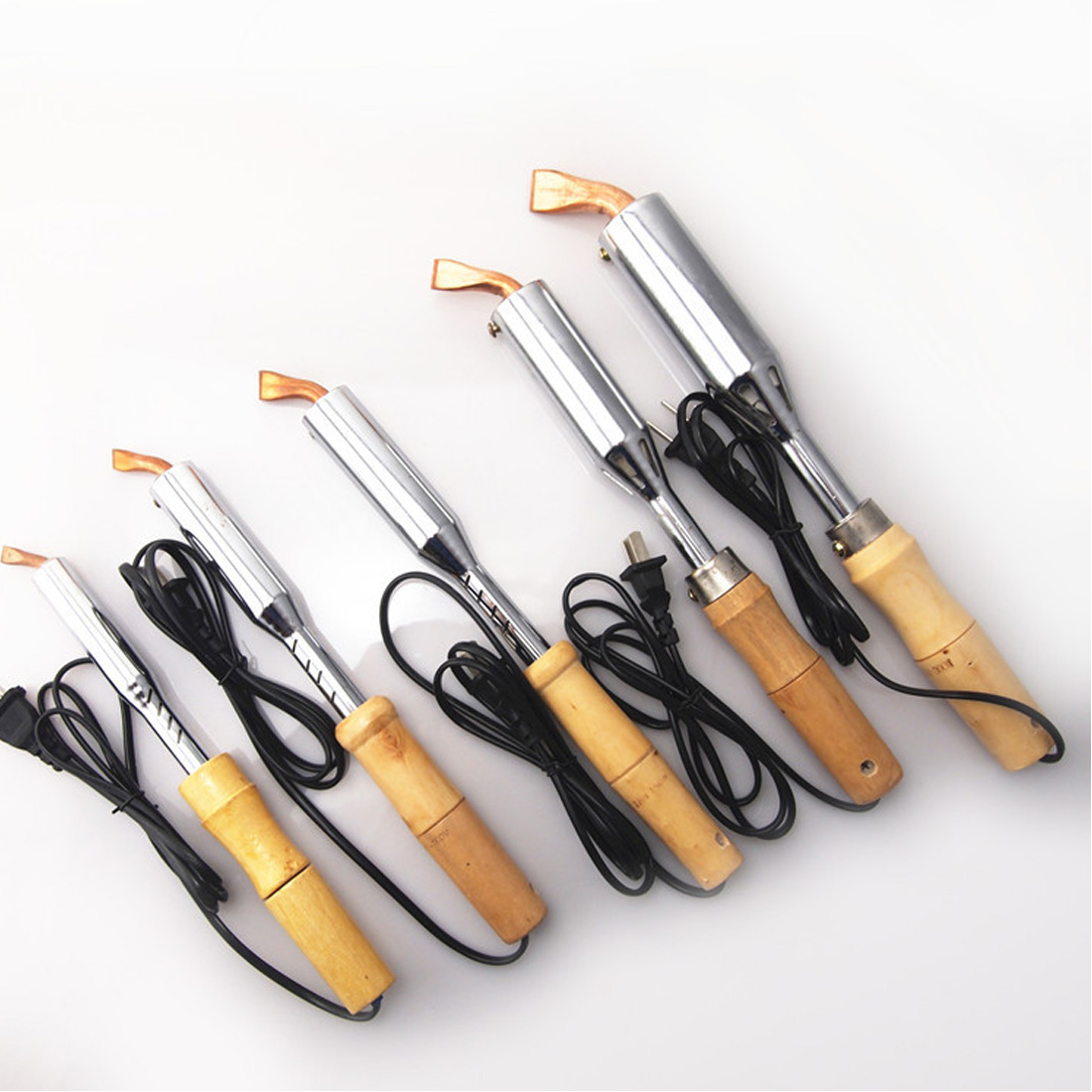 Hot  220V 50Hz Electric Soldering Iron High Power Chisel Tip Soldering Iron Chisel Tip Wood Handle