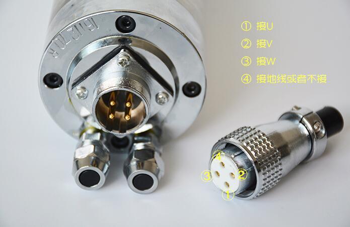 Broche De Refroidissement Par eau GDZ 65 800A 0.8Kw CNC 800W Broche Moteur Dia.65mm ER11 220V 5A - 4