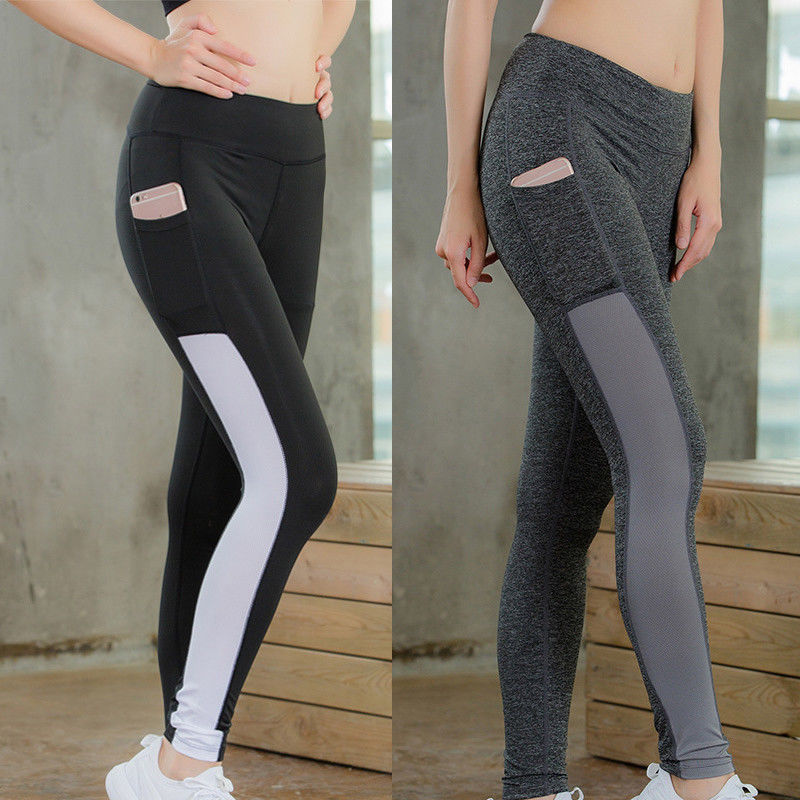 2018 Brand New Women Waist Yoga Fitness Leggings Running Gym Stretch Sports Pants Trousers Women Leggings