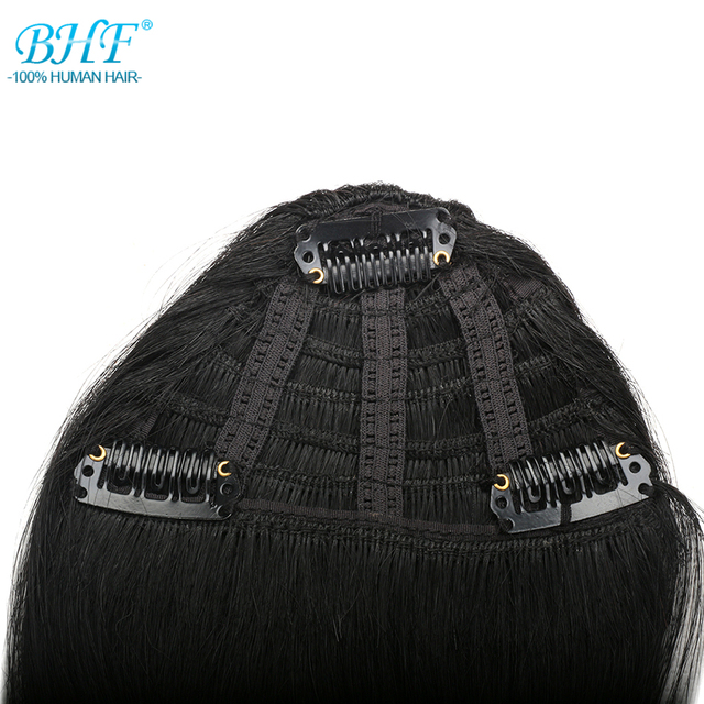 BHF Human Hair Bangs 8inch 20g clip in Straight Remy Natural Fringe Hair 1