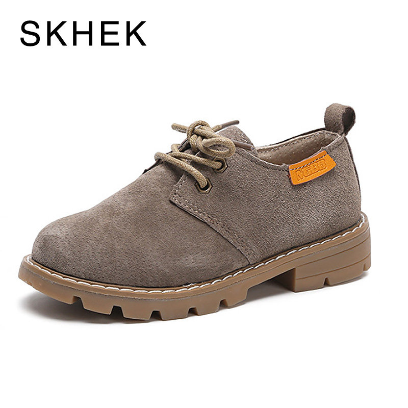 SKHEK Fashion New boy Kids Baby boots Girls Leather Shoes For Kids Girls Boys Shoe Spring Childrens Autumn child Casual Shoe