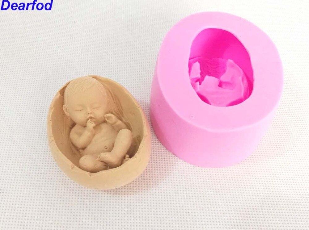 Baby in die stubenwagen fondant silikonform für seife kerze